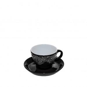 Vintage φλυτζάνι εσπρέσο Vienna σε μαύρο χρώμα σετ των έξι τεμαχίων 7x5 εκ