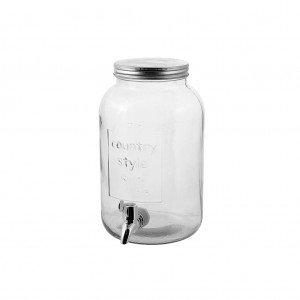 Γυάλινη γυάλα με βρυσάκι διάφανη 20x16x26 εκ
