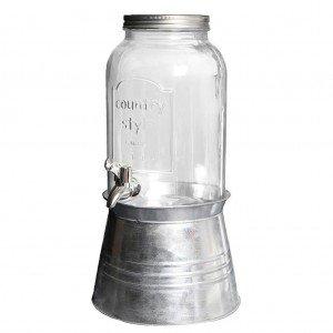 Γυάλα με βρυσάκι και μεταλλική βάση 23x46 εκ