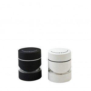 Μύλος αλατιού και πιπεριού σε λευκό και μαύρο χρώμα σετ των έξι τεμαχίων 7x9 εκ