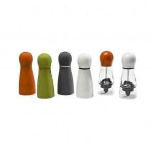 Μύλος πιπεριού σε διάφορα χρώματα σετ των δεκαοχτώ τεμαχίων 6x15 εκ