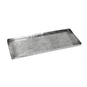 Έθνικ πλατώ αλουμινίου Pandora ορθογώνιο γραμμωτό σετ των δύο τεμαχίων 51x19 εκ