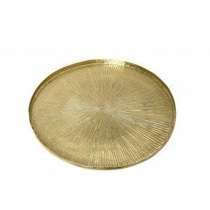 Δίσκος αλουμινίου Pandora σε χρυσή απόχρωση σετ των δύο 31 εκ