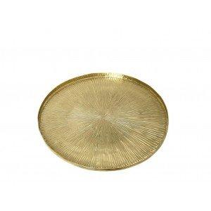 Δίσκος αλουμινίου Pandora σε χρυσή απόχρωση σετ των δύο 27 εκ