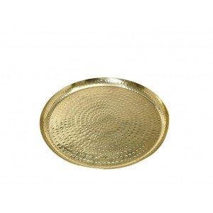 Pandora έθνικ πλατώ αλουμινίου σφυρήλατο στρογγυλό σε χρυσό χρώμα σετ των τεσσάρων τεμαχίων 20 εκ
