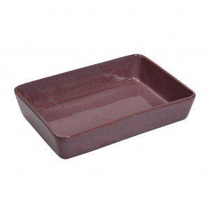Πυρίμαχο ορθογώνιο σκεύος σε ροζ απόχρωση 33x25x7 εκ