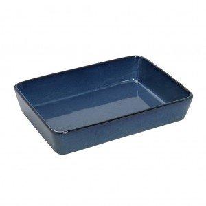 Πυρίμαχο ορθογώνιο σκεύος σε γαλάζια απόχρωση 33x25x7 εκ