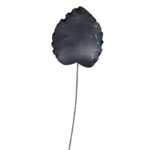 Διακοσμητικό λουλούδι σε μαύρη απόχρωση σετ των δώδεκα τεμαχίων 80 εκ