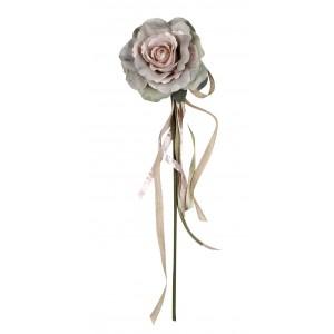 Διακοσμητικό λουλούδι σε μπεζ και φιστικί απόχρωση σετ των έξι τεμαχίων 54 εκ