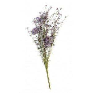 Διακοσμητικά τεχνητά λουλούδια σε μωβ απόχρωση σετ των έξι τεμαχίων 44 εκ