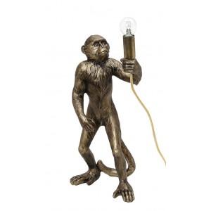 Επιτραπέζιο λαμπατέρ μαϊμού σε χρυσό χρώμα 24x20x49 εκ
