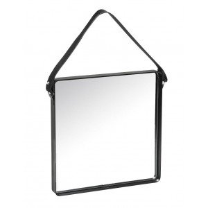 Minimal μεταλλικός καθρέπτης τετράγωνος με μαύρο πλαίσιο 30 εκ