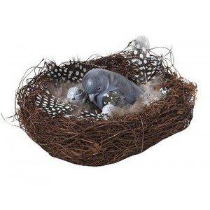 Πασχαλινό διακοσμητικό φωλιά με πουλάκι σετ των τεσσάρων τεμαχίων 13x7 εκ