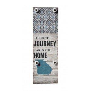 Ξύλινη κρεμάστρα Journey Home τεσσάρων θέσεων 20x5x60 εκ