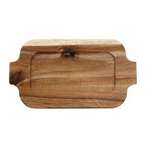 Lava δισκάκι από ξύλο ακακίας σετ των δύο τεμαχίων 25x14 εκ