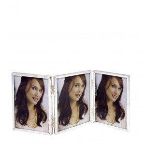 Επιτραπέζια τριπλή κορνίζα βιβλίο σε ασημί απόχρωση 35x2x18 εκ