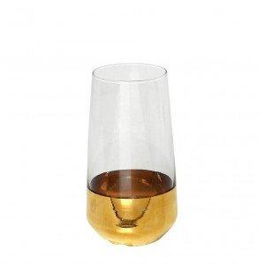 Allegra γυάλινο ποτήρι νερού σε διάφανο με χρυσό χρώμα σετ των έξι τεμαχίων 7x15 εκ