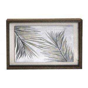 Διακοσμητικό κάδρο με φύλλα σε γήινες αποχρώσεις 50x60 εκ