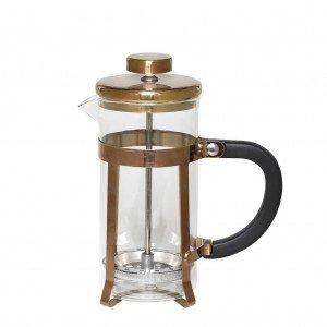 Καφετιέρα γαλλικού σε χάλκινο χρώμα με pp μαύρη λαβή 8x19 εκ