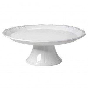 Tiffany κεραμική πιατέλα σε λευκό χρώμα με βάση 33x12 εκ
