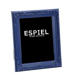 Επιτραπέζια κορνίζα από πολυρέζιν σε μπλε χρώμα 13x3x18 εκ