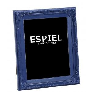 Επιτραπέζια κορνίζα από πολυρέζιν σε μπλε χρώμα 16x3x21 εκ