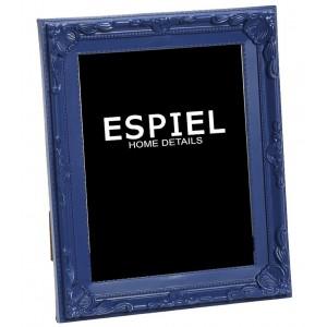 Επιτραπέζια κορνίζα από πολυρέζιν σε μπλε χρώμα 24x3x28 εκ