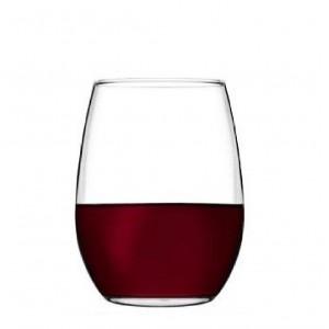 Amber red γυάλινο ποτήρι κόκκινου κρασιού σετ των έξι τεμαχίων 9x12 εκ