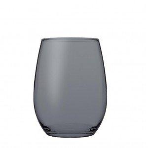 Amber red γυάλινο ποτήρι κόκκινου κρασιού σε ανθρακί χρώμα σετ των έξι τεμαχίων 9x12 εκ