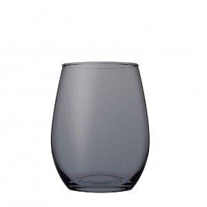 Amber white γυάλινο ποτήρι λευκού κρασιού σε ανθρακί χρώμα σετ των έξι τεμαχίων 8x10 εκ