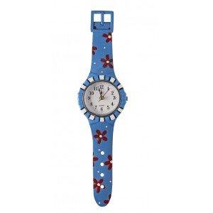 Παιδικό ρολόι τοίχου σε μπλε χρώμα 9x3x33 εκ