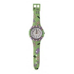 Παιδικό ρολόι τοίχου σε λαχανί χρώμα 9x3x33 εκ