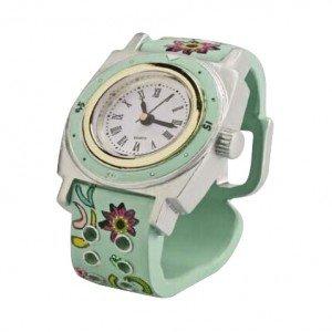 Επιτραπέζιο παιδικό ρολόι σε βεραμάν απόχρωση 9x7x10 εκ