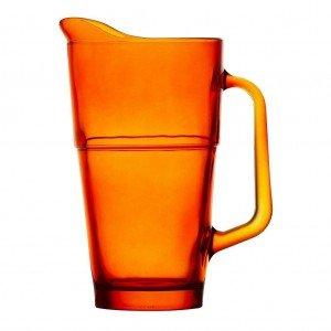 Impilable γυάλινη πορτοκαλί κανάτα 13x21 εκ