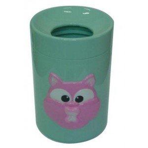 Παιδικός κάδος απορριμμάτων κεραμικός με σχέδιο γάτα 22x19x29 εκ