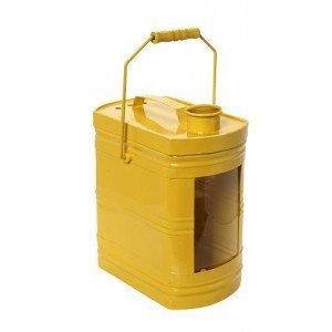 Industrial μεταλλικό φανάρι σε κίτρινο χρώμα σετ των δύο τεμαχίων 38 και 28 εκ