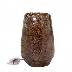 Γυάλινο λαμπατέρ σε καφέ χρώμα 18x27 εκ