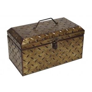 Industrial μεταλλικό κουτί σε μπρονζέ χρώμα 38x21x21 εκ