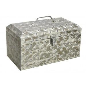 Industrial μεταλλικό κουτί σε λευκό χρώμα 38x21x21 εκ