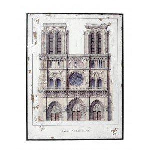 Vintage διακοσμητικό κάδρο Notre Dame 60x80 εκ