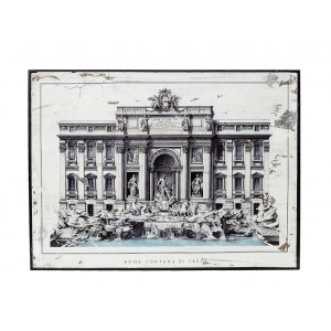 Vintage διακοσμητικό κάδρο Fontana Di Trevi 60x80 εκ