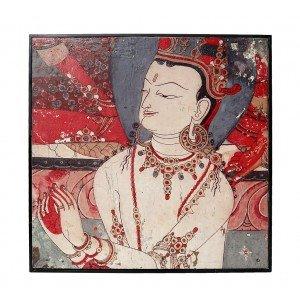 Έθνικ διακοσμητικό κάδρο με ασιατική φιγούρα 60x60 εκ