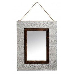 Ξύλινος καθρέπτης σε κλασσική γραμμή σε γκρι απόχρωση 62x7x82 εκ