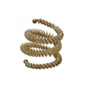 Διακοσμητικό δαχτυλίδι πετσέτας σε χρυσό χρώμα σετ των έξι τεμαχίων 5 εκ