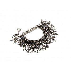 Δαχτυλίδι πετσέτας σκούρο ασημί σετ των έξι τεμαχίων 5 εκ