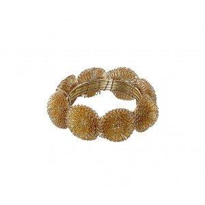 Διακοσμητικό δαχτυλίδι για πετσέτα σε χρυσό χρώμα σετ των έξι 5 εκ