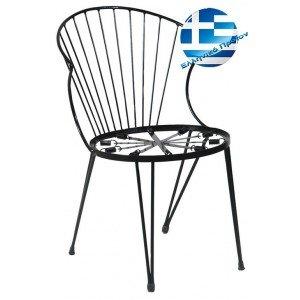 Μεταλλική καρέκλα vintage style στοιβαζόμενη 51x59x77 εκ