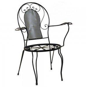 Πολυθρόνα Φερ Φορζέ σε μαύρο χρώμα 58x64x88 εκ