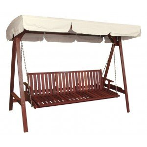 Red Shorea Ξύλινη Κούνια - κρεβάτι 251x28x194 εκατοστά