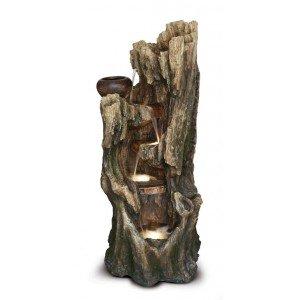 Συντριβάνι κορμός δέντρου με led φωτισμό 132 εκ